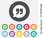 quote sign icon. quotation mark ... | Shutterstock .eps vector #215698168