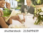 people having fun at wedding... | Shutterstock . vector #215699659