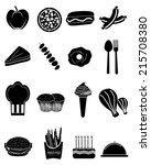 fast food icons   Shutterstock .eps vector #215708380
