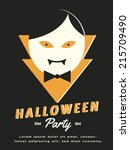 halloween. vector illustration. | Shutterstock .eps vector #215709490