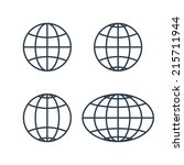 globe earth world icons... | Shutterstock .eps vector #215711944