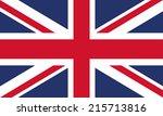 flag of united kingdom | Shutterstock .eps vector #215713816