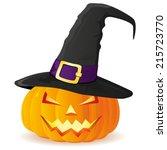 jack o lantern. halloween... | Shutterstock .eps vector #215723770