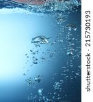water wave with bubble | Shutterstock . vector #215730193