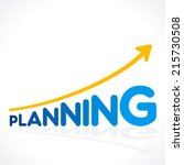 creative planning word graph... | Shutterstock .eps vector #215730508