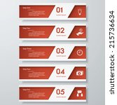 design clean number banners... | Shutterstock .eps vector #215736634