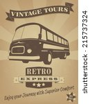 Vintage Bus Retro Advertising...