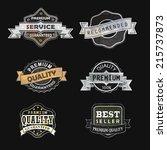 set of vintage labels   Shutterstock . vector #215737873