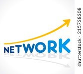 creative network word growth... | Shutterstock .eps vector #215738308