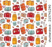 background of vintage suitcases.... | Shutterstock .eps vector #215741290