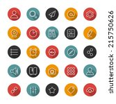 set of thin icons. style lines. ...