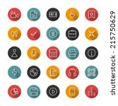 set of thin icons. style lines. ... | Shutterstock .eps vector #215750629