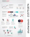 flat designed  infographics set.... | Shutterstock .eps vector #215751874