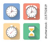 flat time icons. vector...