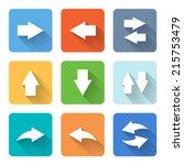 flat arrow icons. vector...
