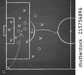 image of a soccer tactic on... | Shutterstock .eps vector #215756896