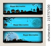 set of horizontal banners with... | Shutterstock .eps vector #215757100