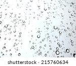 drops of water on mirror in... | Shutterstock . vector #215760634