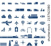 transportation icons set   cars ... | Shutterstock .eps vector #215762380
