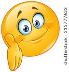 emoticon giving a hand   Shutterstock .eps vector #215777623