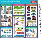 modern city map elements for...   Shutterstock .eps vector #215786293