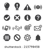 notification icons   Shutterstock .eps vector #215798458