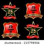 75 guarantee and warranty badge ... | Shutterstock .eps vector #215798506