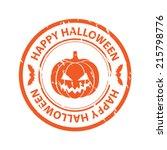 halloween rubber stamp   Shutterstock .eps vector #215798776