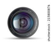 camera lens | Shutterstock .eps vector #215800876