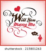 will you marry me | Shutterstock .eps vector #215801263