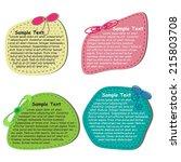 scrapbook elements  text box   Shutterstock .eps vector #215803708
