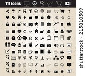 web design icons set vector eps ... | Shutterstock .eps vector #215810509