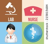 four different medical icons on ... | Shutterstock .eps vector #215815684