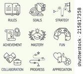 creative marketing line art... | Shutterstock .eps vector #215817358