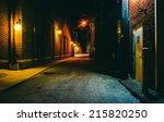Dark Alley At Night In Hanover...