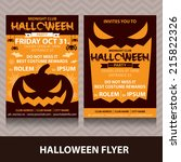 halloween card invitation.... | Shutterstock .eps vector #215822326