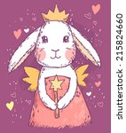 cute fairy princess rabbit with ...
