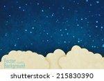 vector night sky   Shutterstock .eps vector #215830390