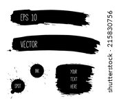 set of grunge black banners.... | Shutterstock .eps vector #215830756