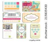 set of loyalty cards. oriental... | Shutterstock .eps vector #215835430