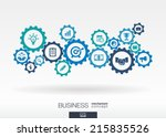 business mechanism concept.... | Shutterstock .eps vector #215835526