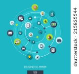 business connection concept.... | Shutterstock .eps vector #215835544