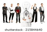 idea concept. lamp head doctor... | Shutterstock . vector #215844640