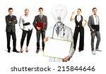 idea concept. lamp head doctor... | Shutterstock . vector #215844646