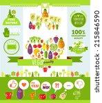 vegetarian infographics and... | Shutterstock .eps vector #215846590