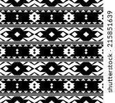 vector  seamless  white ethnic... | Shutterstock .eps vector #215851639