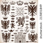vector. heraldic elements | Shutterstock .eps vector #215851849