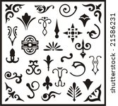 ornamental design elements ... | Shutterstock .eps vector #21586231