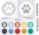 dog paw sign icon. pets symbol. ... | Shutterstock . vector #215875528