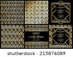 vector retro pattern for... | Shutterstock .eps vector #215876089